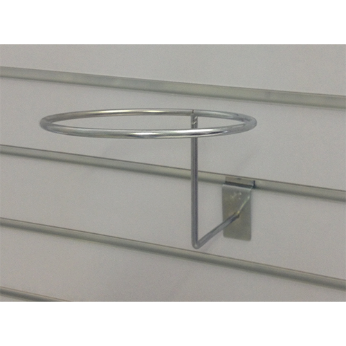 Metal Slatwall Hook: 1 Ring Hat Hook