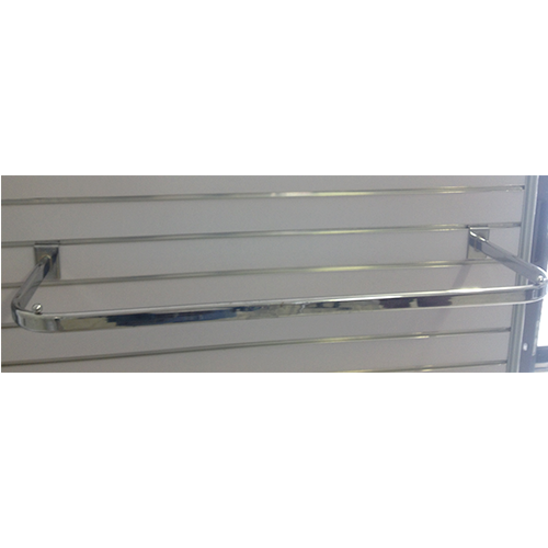 Metal Slatwall Clothing Rail Chrome 900 x 300mm