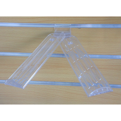 Plastic Slatwall Swivel Shoe Stand Double