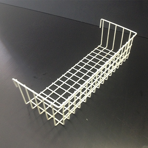 Metal Grid White Basket – Medium