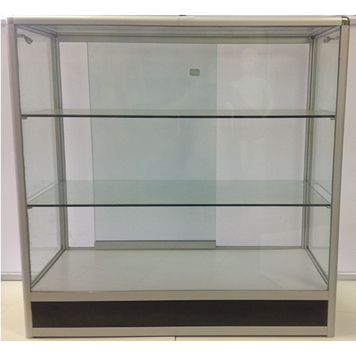 Glass Counter Rounded Corners With Kickboard