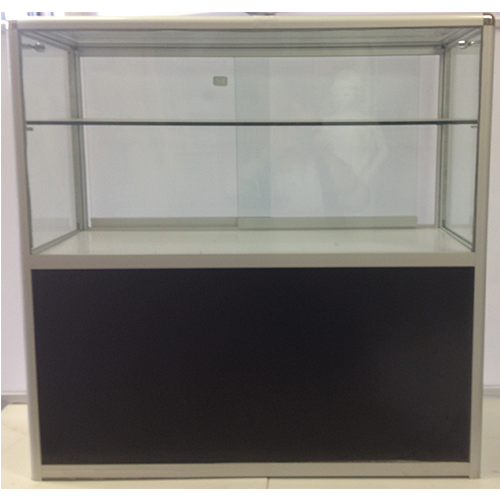 Glass Counter Rounded Corners with Cupboard