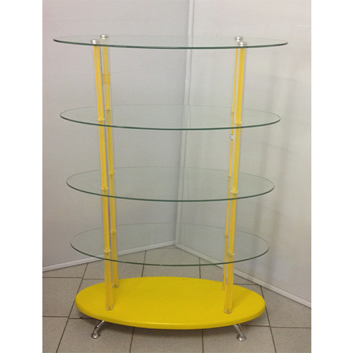 Glass Showcase Stand With Perspex Pole 100cm x 40cm x 1450cm