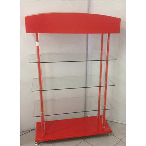 Glass Showcase Stand With Perspex Pole 100cm x 40cm x 160cm