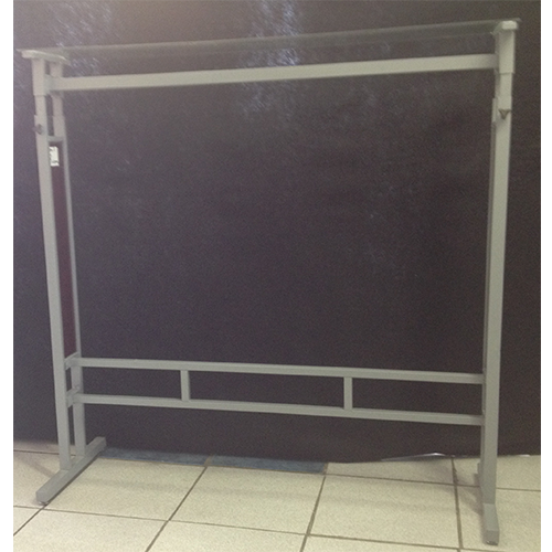 Double Bar Clothing Rail With Glass Shelf On Top