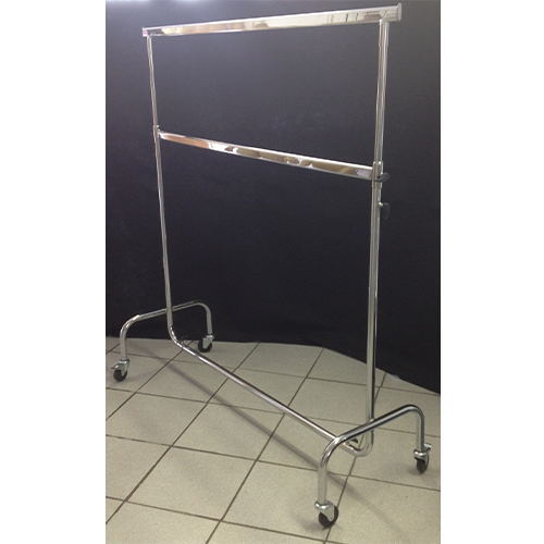 2 Tier Chrome Heavy Duty Clothing Rail