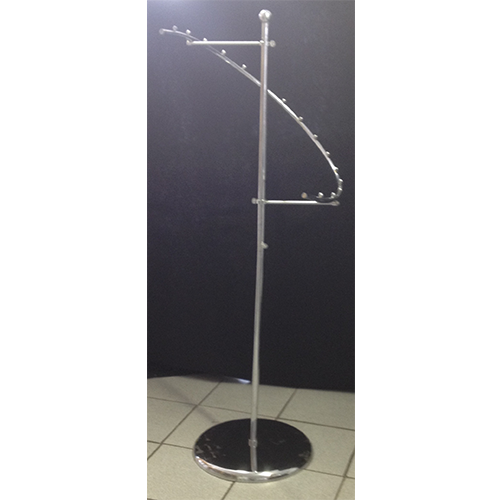 Chrome Spiral Clothing Rack With Ball On Top