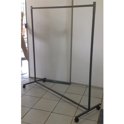 Standard Collapsible Clothing Rail On Casters, powder-coated