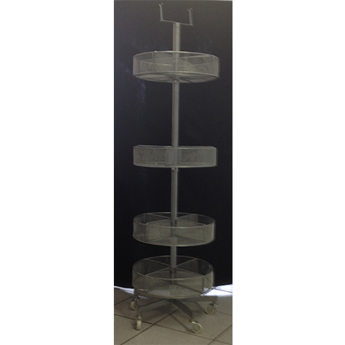 4 Tier Circular Display Stand With 16 Partitions